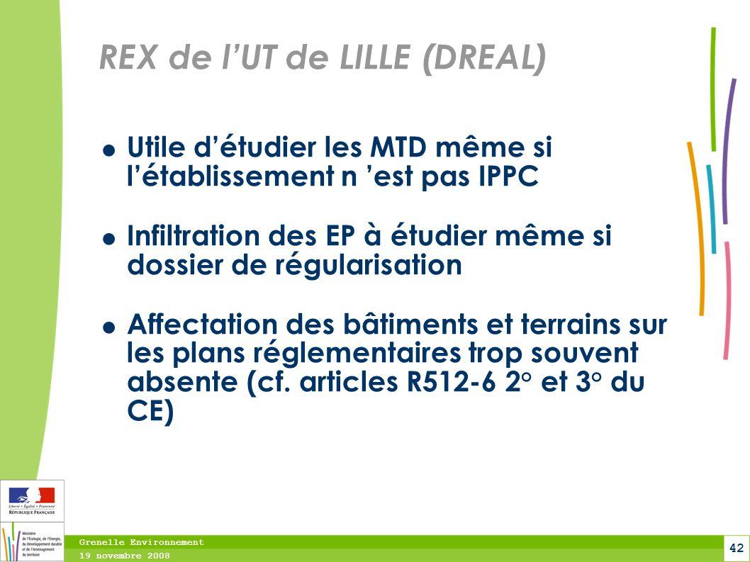 REX de l'UT de LILLE (DREAL)