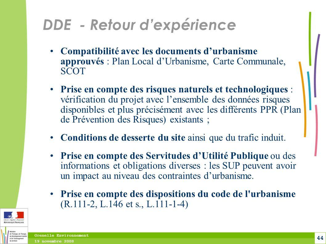 DDE - Retour d'expérience