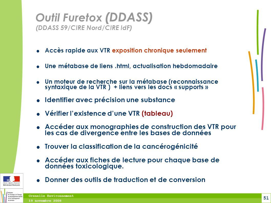 Outil Furetox (DDASS) (DDASS 59/CIRE Nord/CIRE IdF)