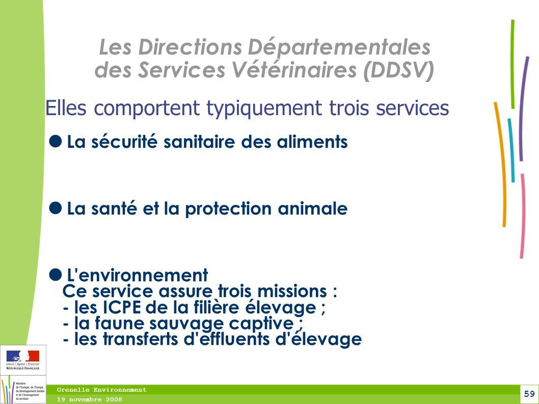 Les Directions Départementales des Services Vétérinaires (DDSV)