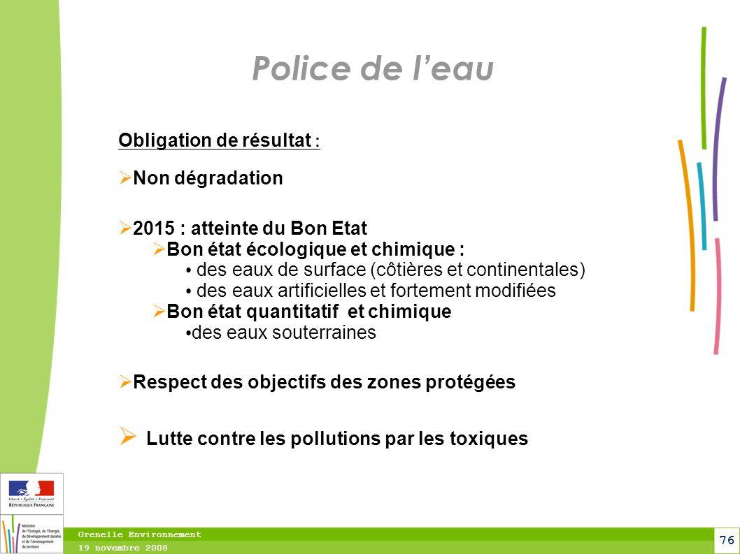 Police de l'eau Lutte contre les pollutions par les toxiques