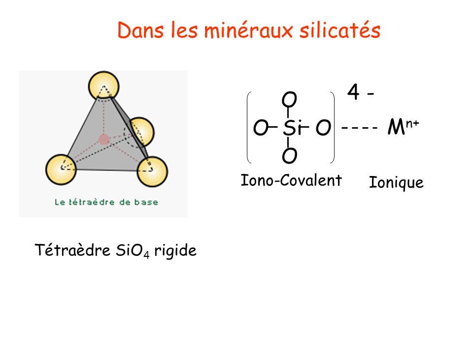 Dans les minéraux silicatés