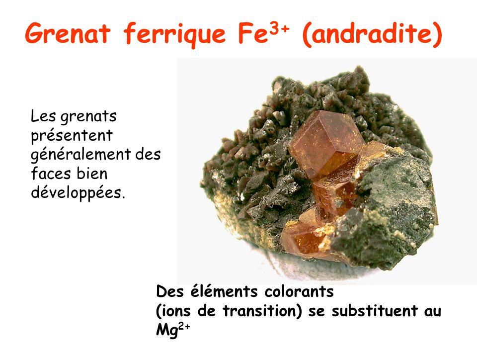 Grenat ferrique Fe3+ (andradite)