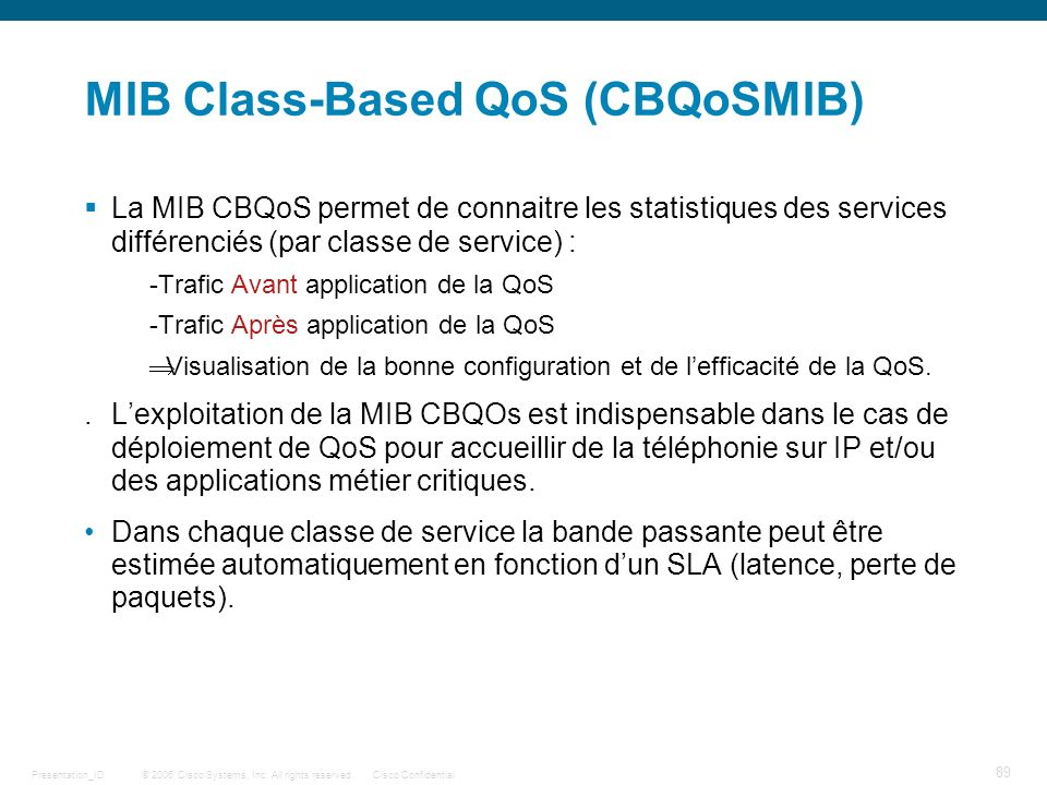 MIB Class-Based QoS (CBQoSMIB)