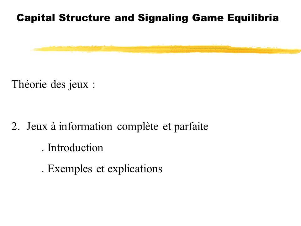 2. Jeux à information complète et parfaite . Introduction