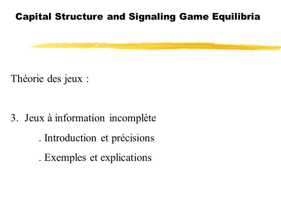 3. Jeux à information incomplète . Introduction et précisions