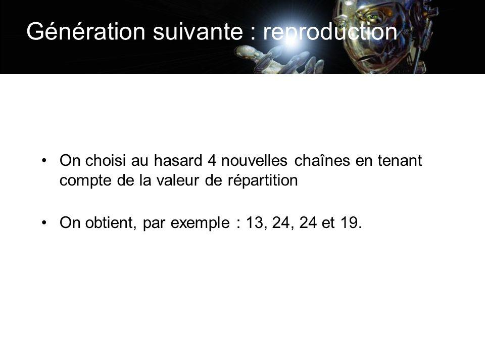 Génération suivante : reproduction