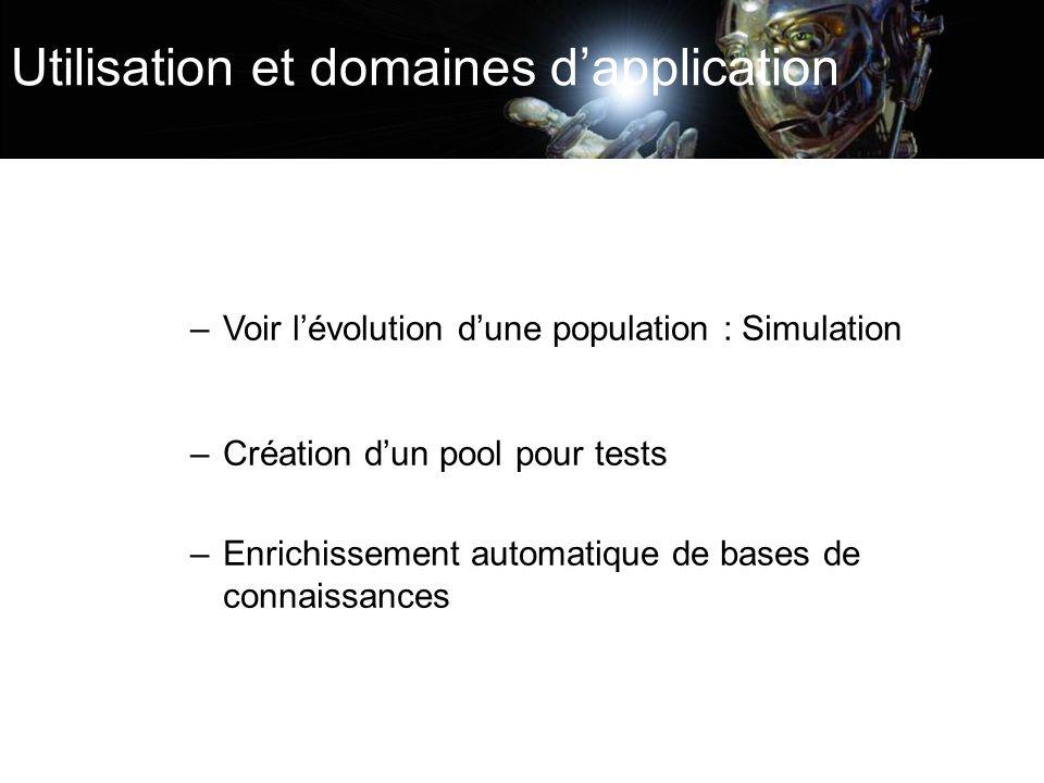 Utilisation et domaines d'application