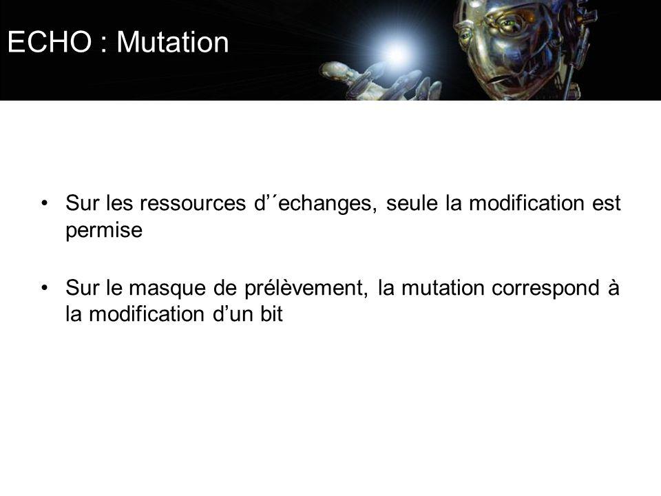 ECHO : Mutation Sur les ressources d'´echanges, seule la modification est permise.