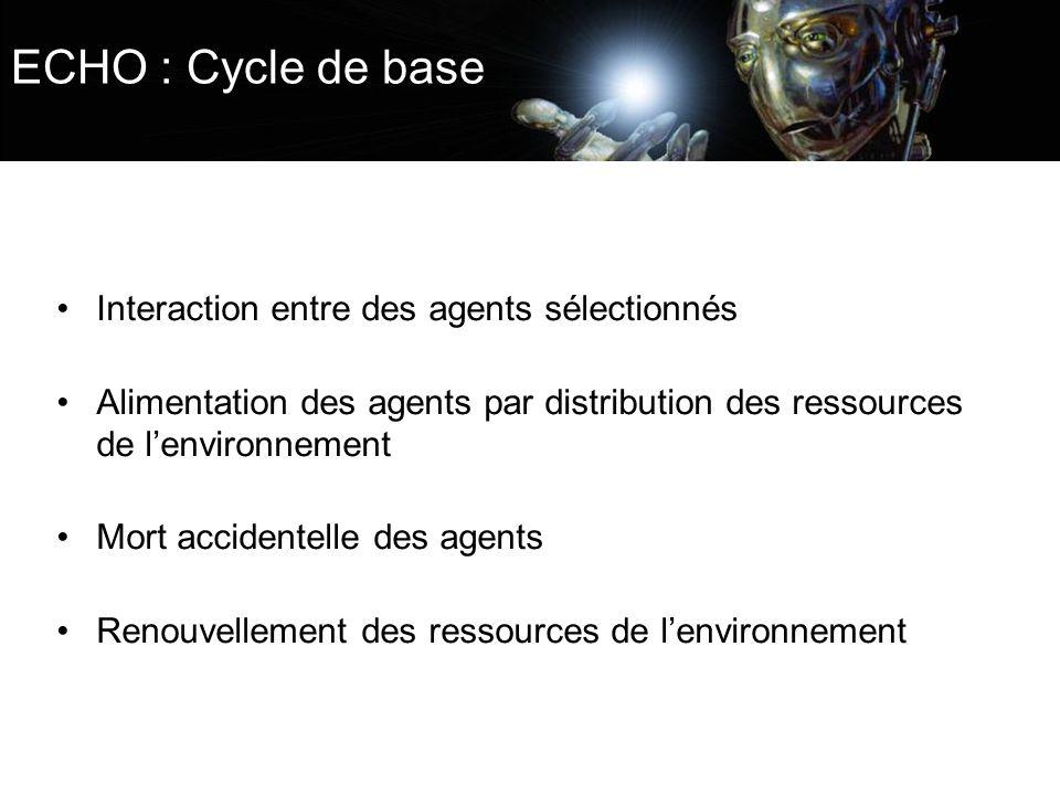 ECHO : Cycle de base Interaction entre des agents sélectionnés