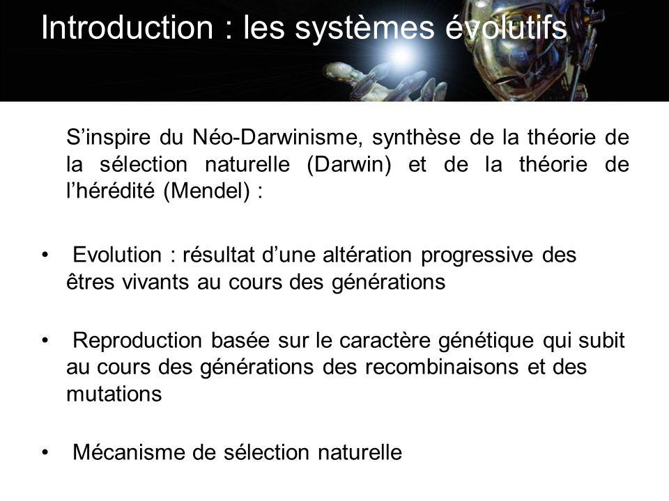 Introduction : les systèmes évolutifs