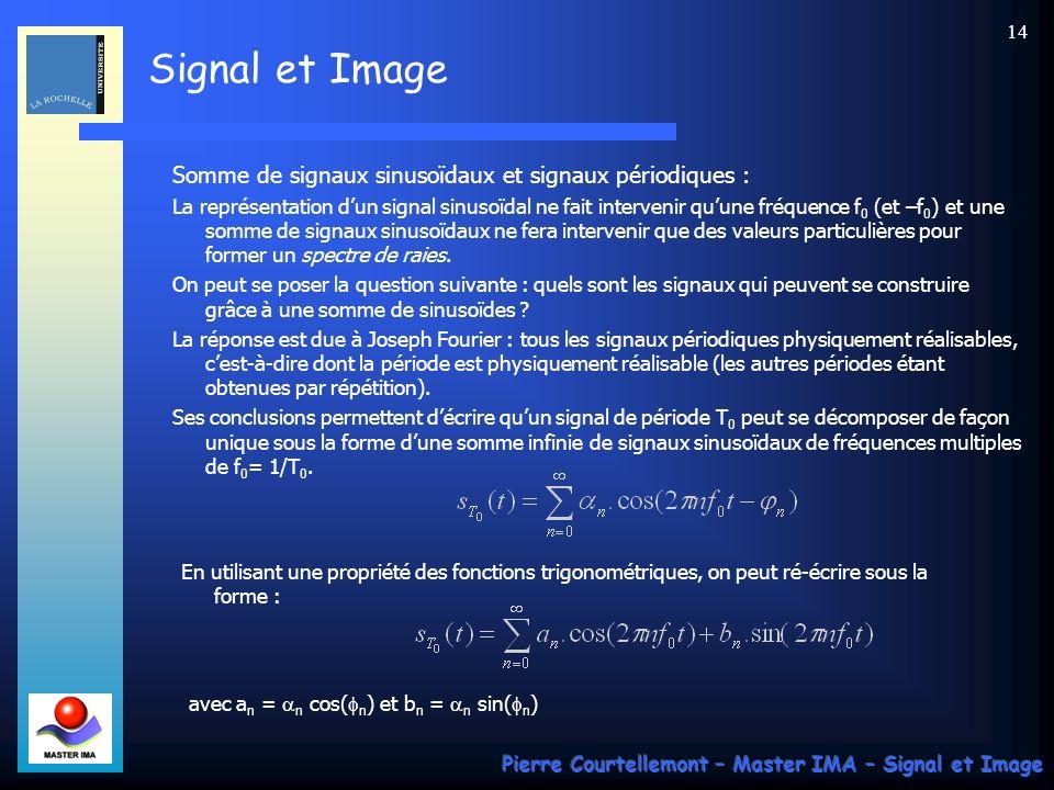 Somme de signaux sinusoïdaux et signaux périodiques :