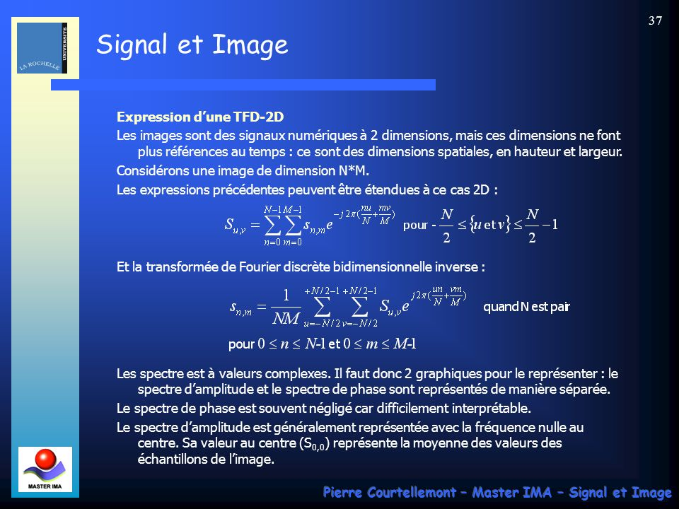 Expression d'une TFD-2D