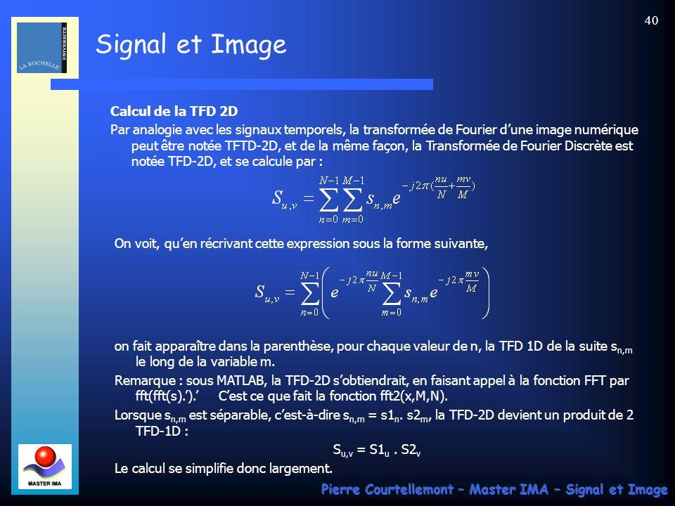 Calcul de la TFD 2D