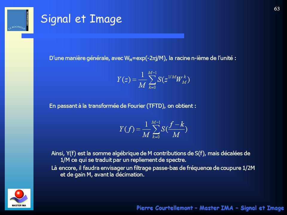 D'une manière générale, avec WM=exp(-2pj/M), la racine n-ième de l'unité :