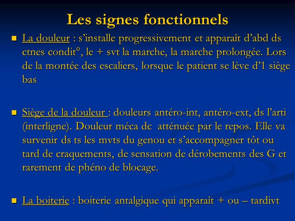 Les signes fonctionnels