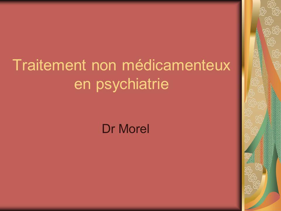 Traitement non médicamenteux en psychiatrie