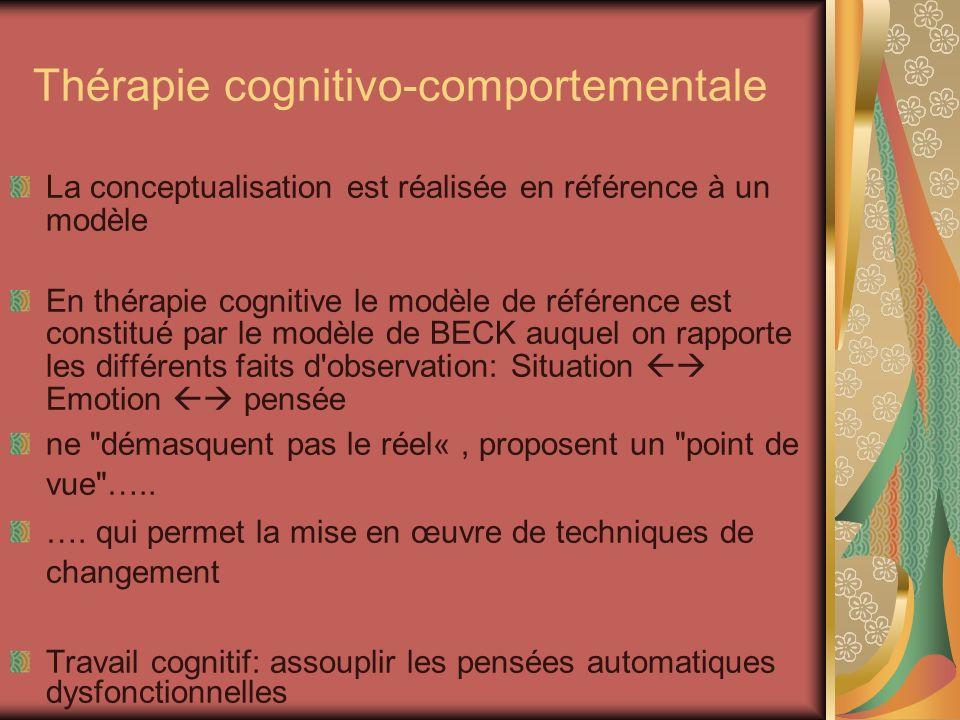 Thérapie cognitivo-comportementale