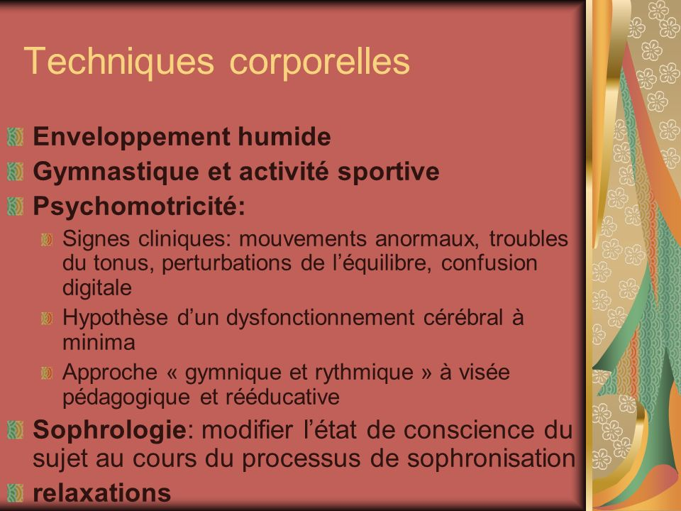 Techniques corporelles