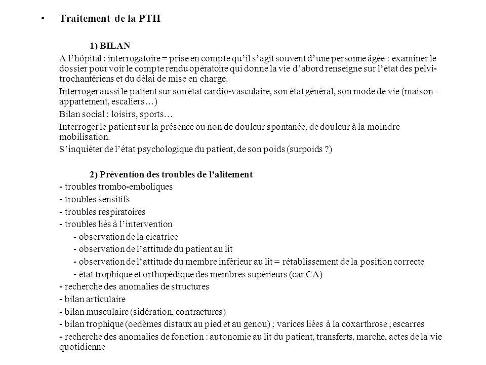 Traitement de la PTH 1) BILAN