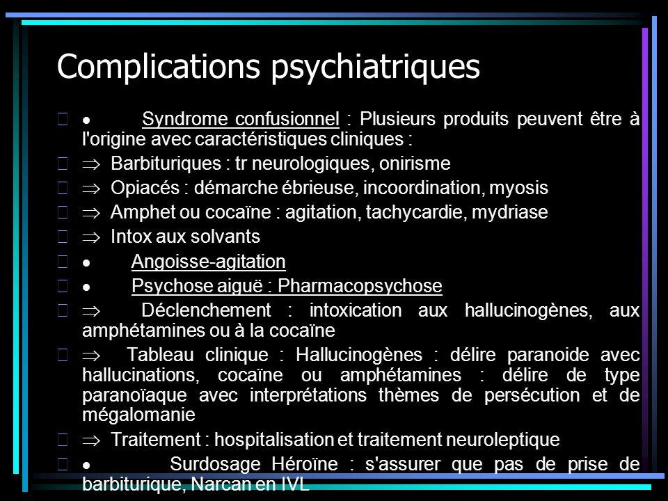 Complications psychiatriques