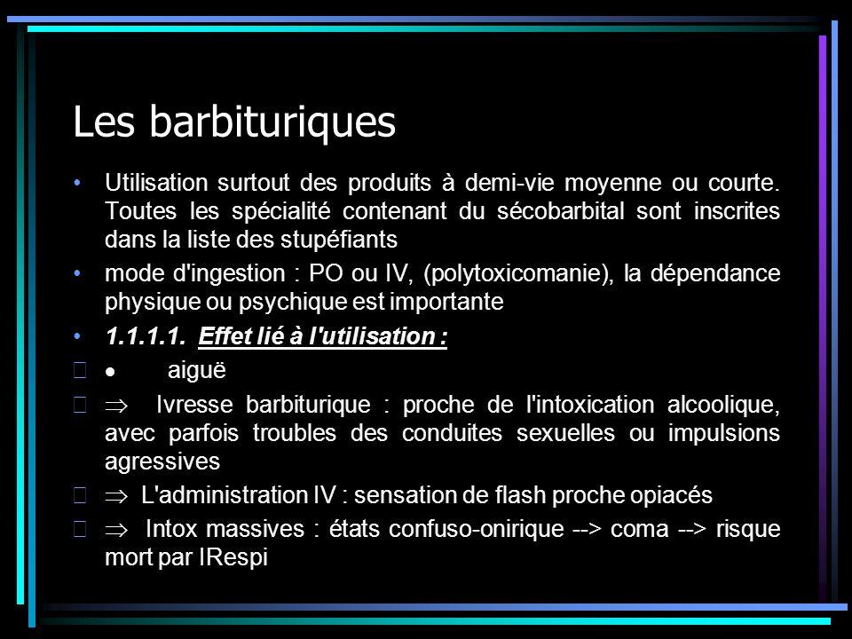 Les barbituriques