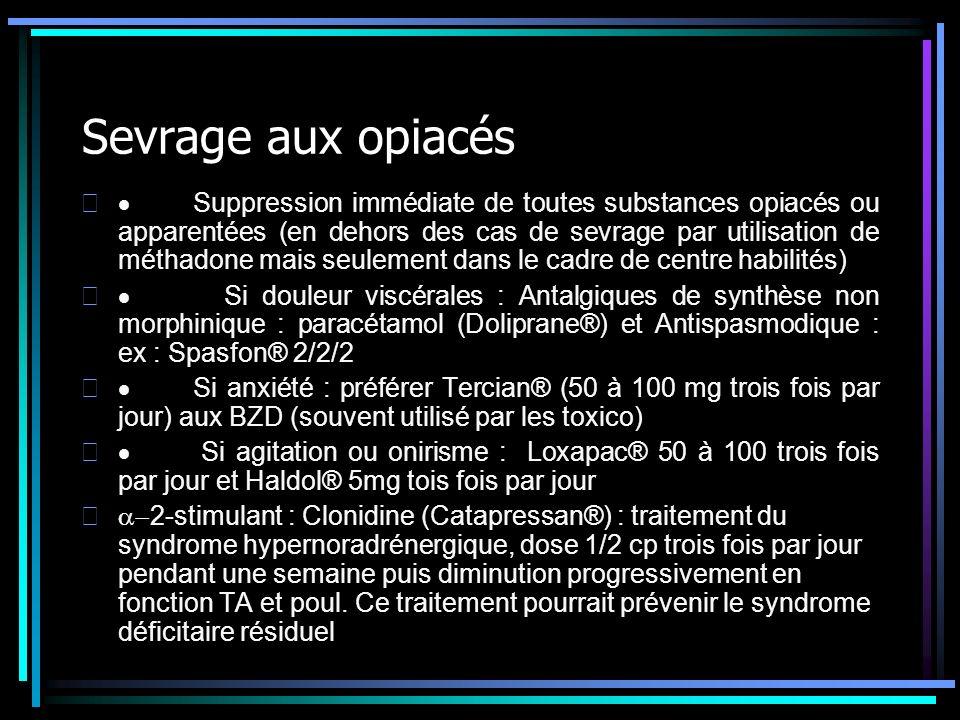 Sevrage aux opiacés