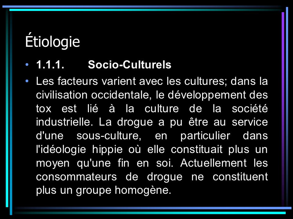 Étiologie 1.1.1. Socio-Culturels