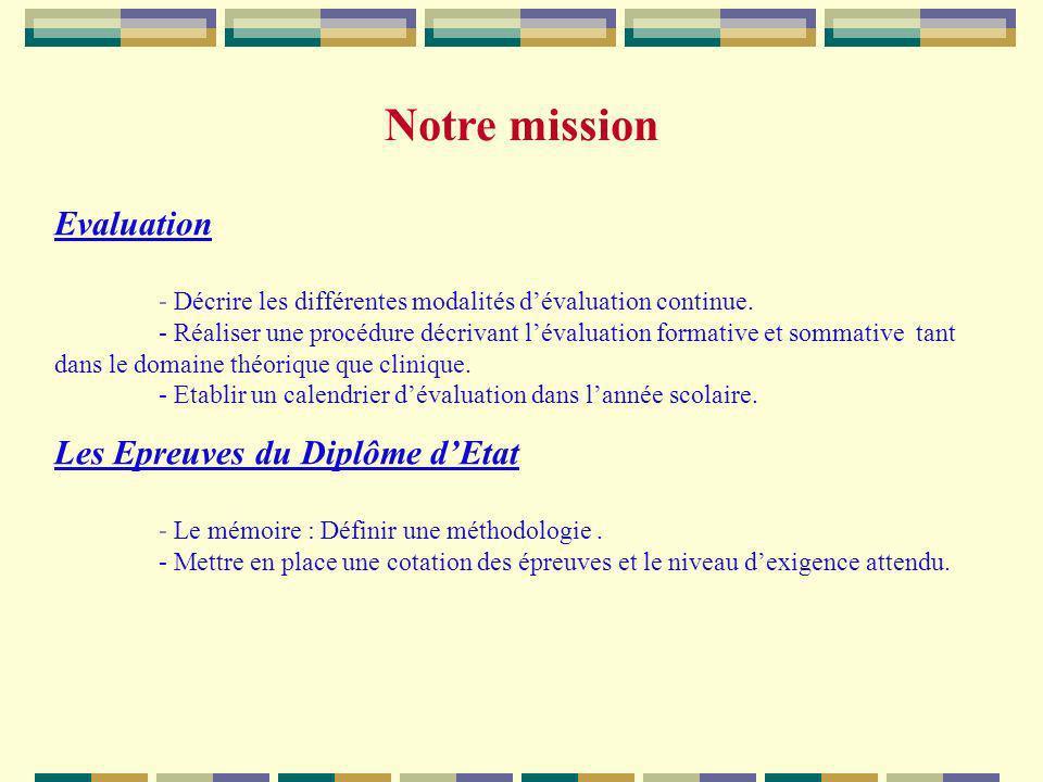 Notre mission Evaluation Les Epreuves du Diplôme d'Etat