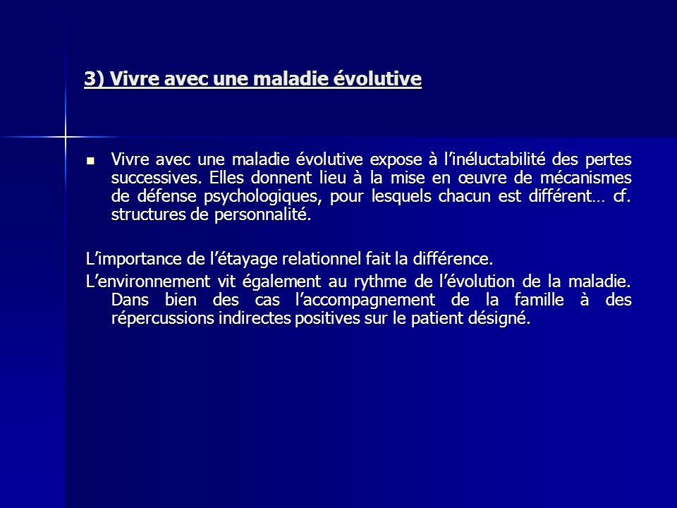 3) Vivre avec une maladie évolutive