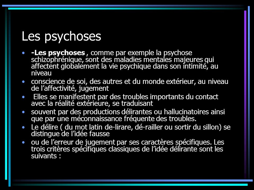 Les psychoses