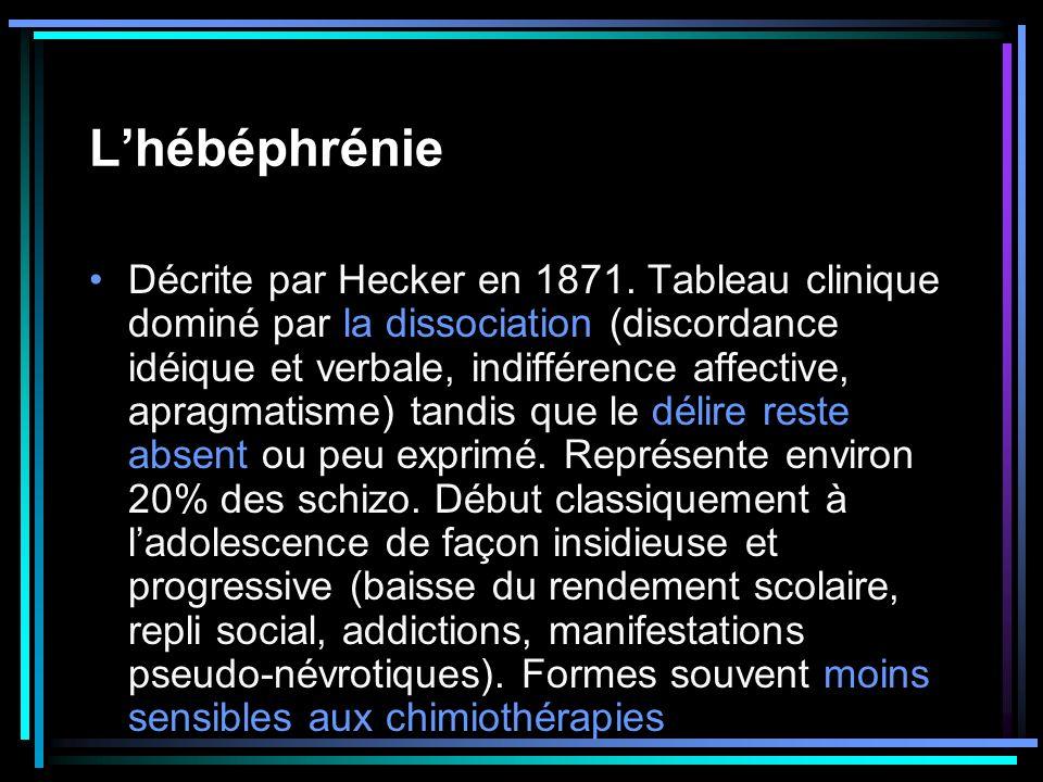 L'hébéphrénie