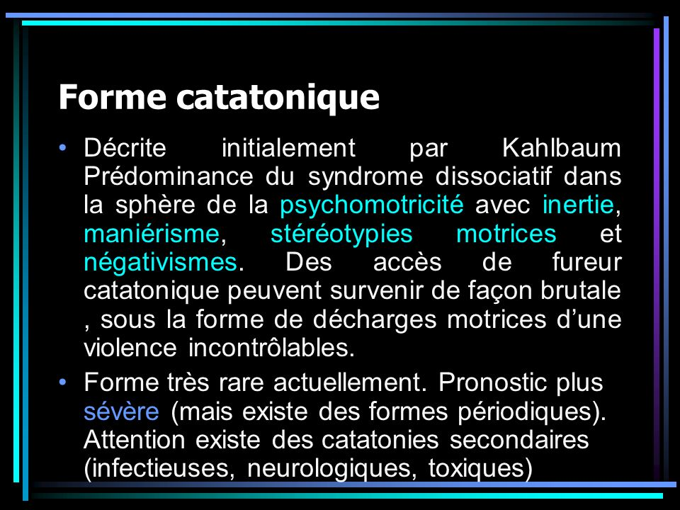Forme catatonique