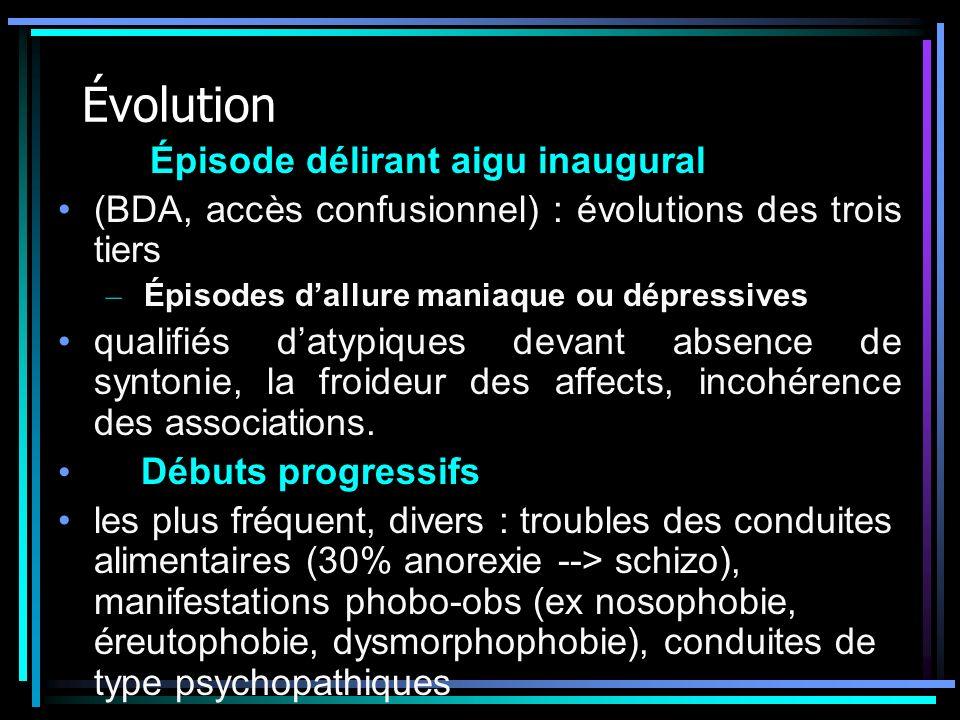 Évolution Épisode délirant aigu inaugural