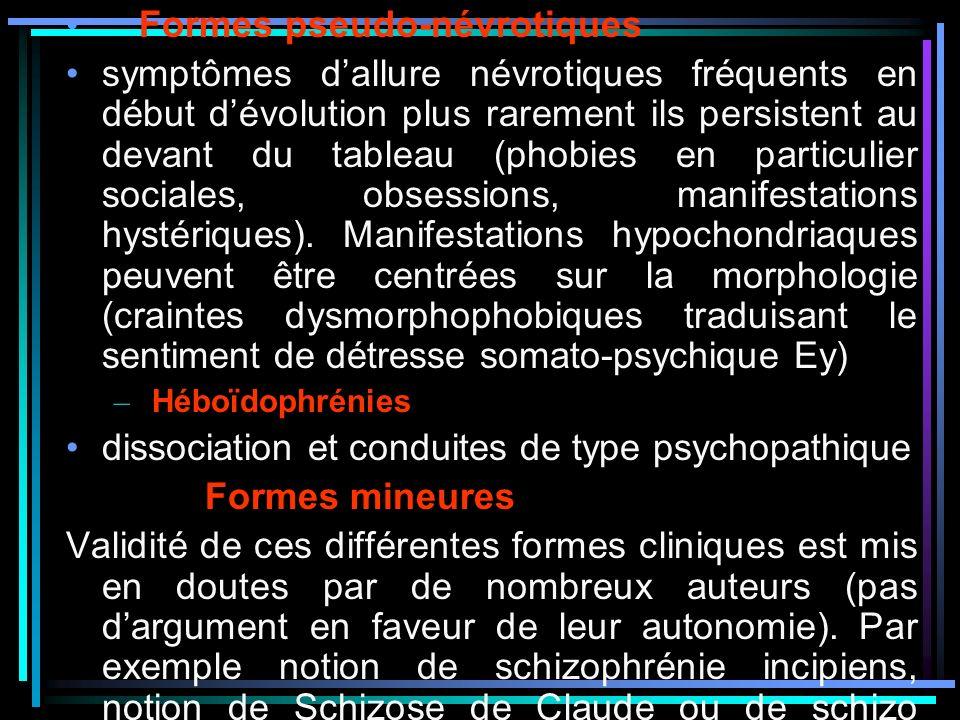 Formes pseudo-névrotiques