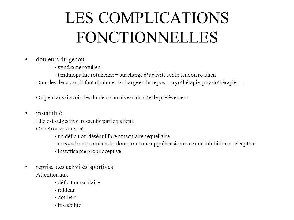 LES COMPLICATIONS FONCTIONNELLES