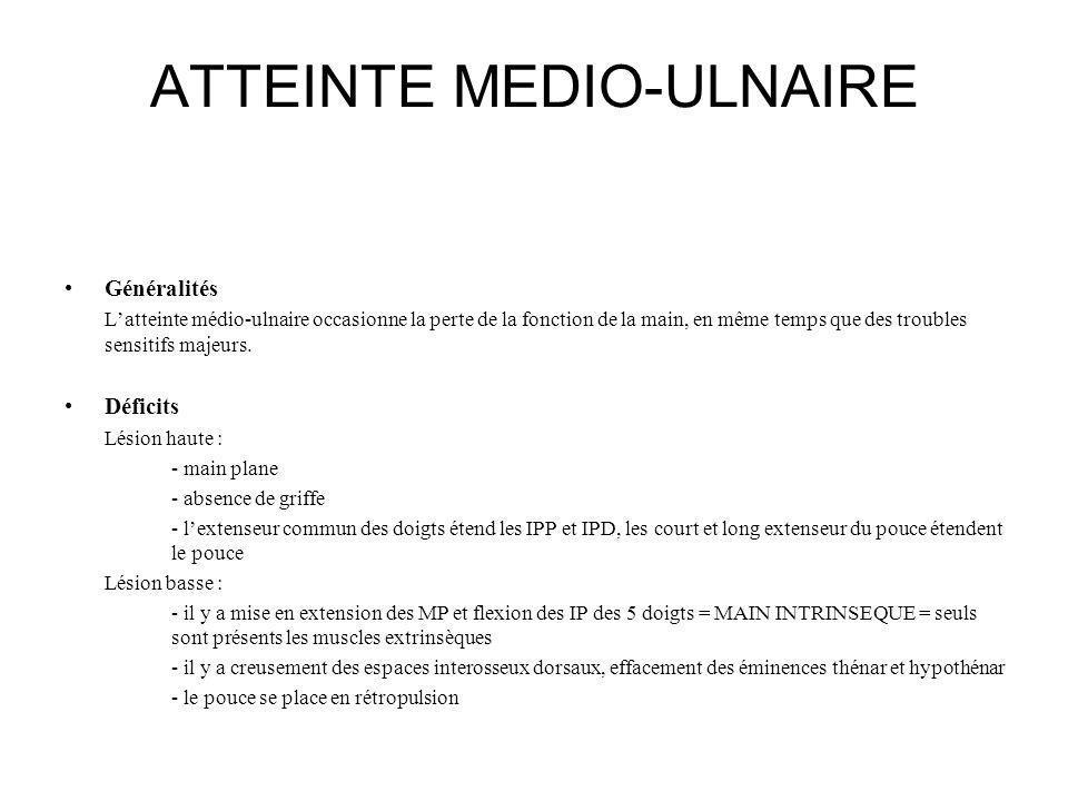 ATTEINTE MEDIO-ULNAIRE