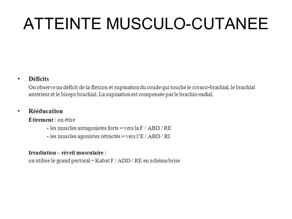 ATTEINTE MUSCULO-CUTANEE