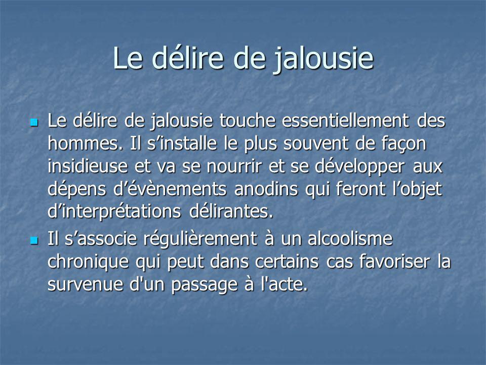 Le délire de jalousie