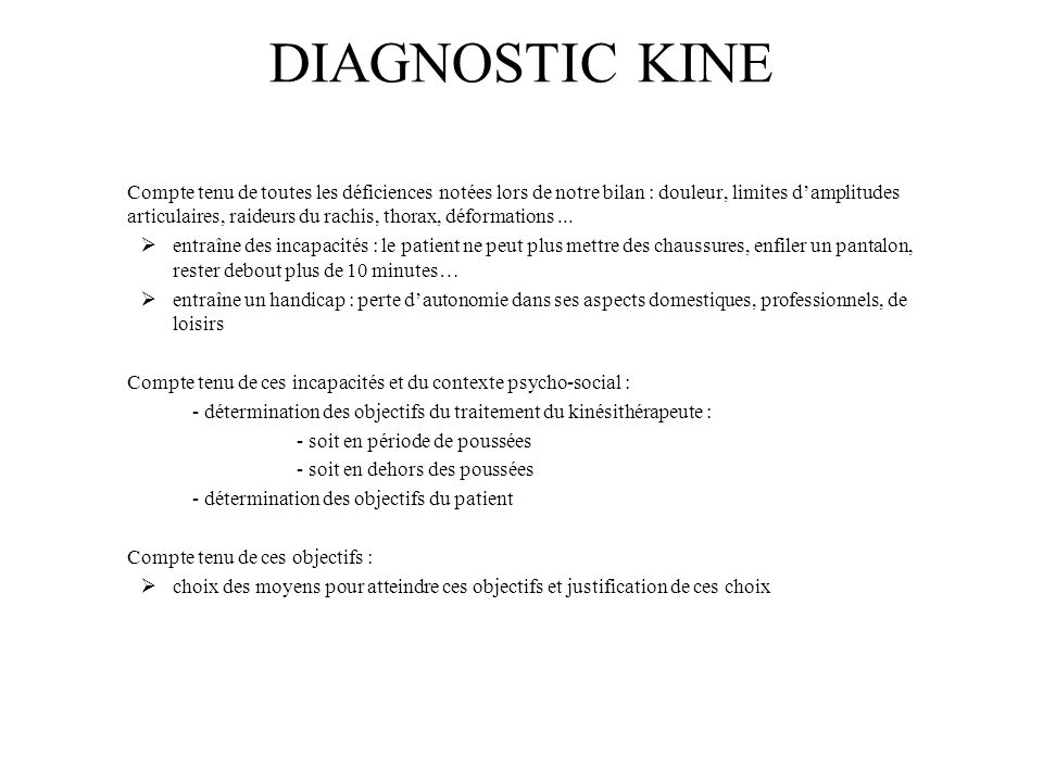 DIAGNOSTIC KINE