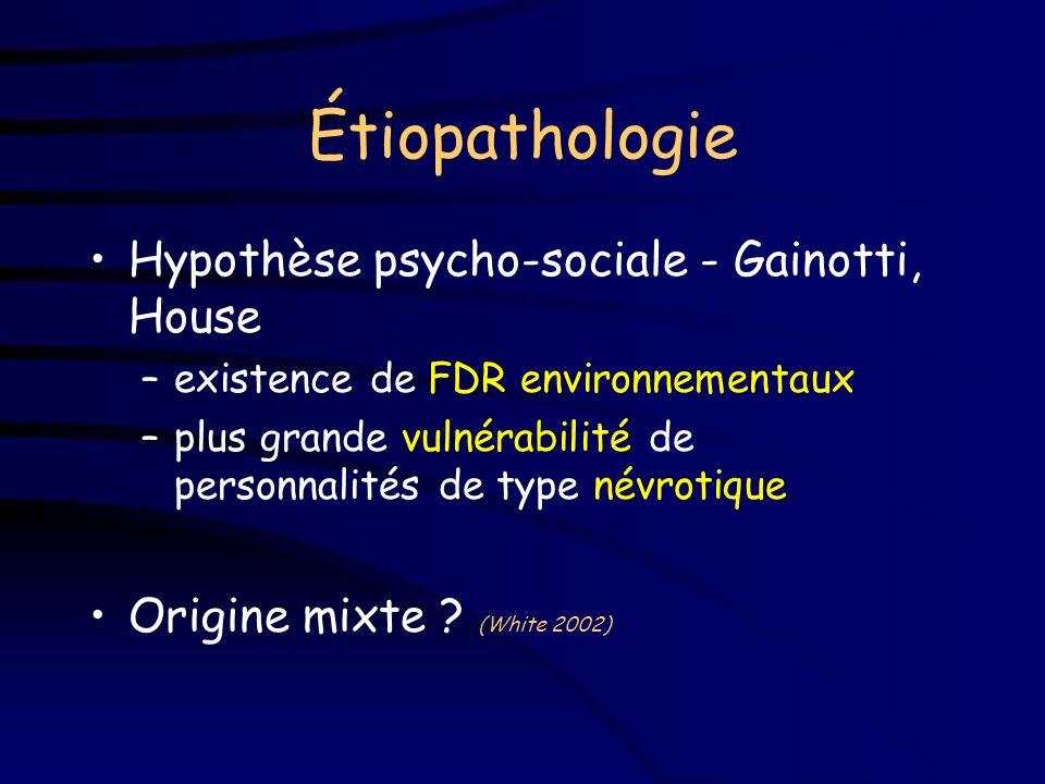 Étiopathologie Hypothèse psycho-sociale - Gainotti, House