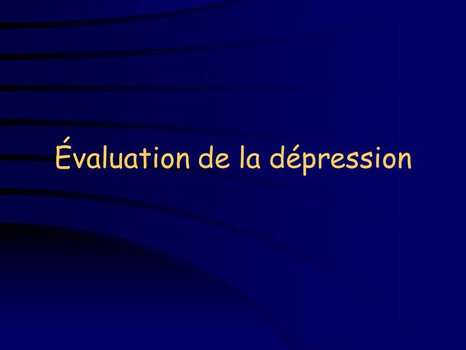 Évaluation de la dépression