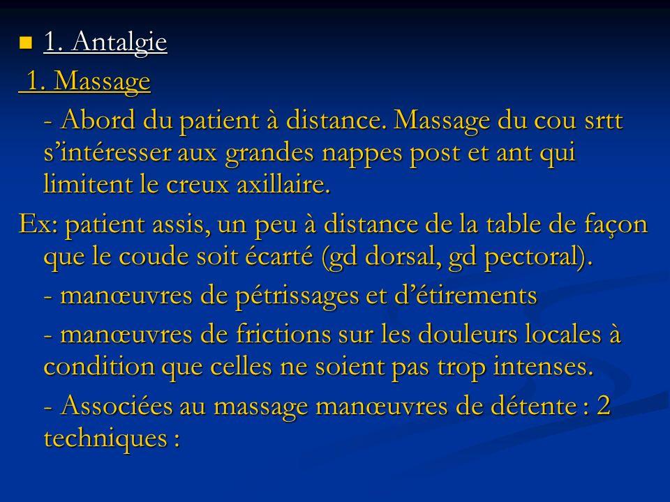 1. Antalgie 1. Massage.