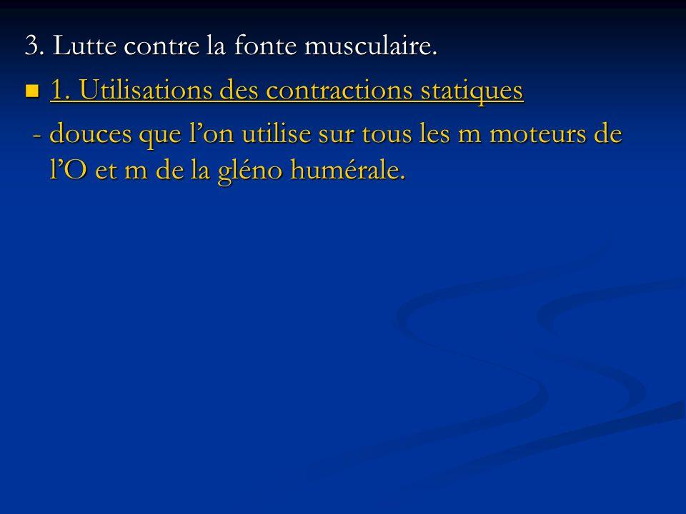 3. Lutte contre la fonte musculaire.