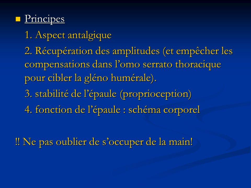 Principes 1. Aspect antalgique.
