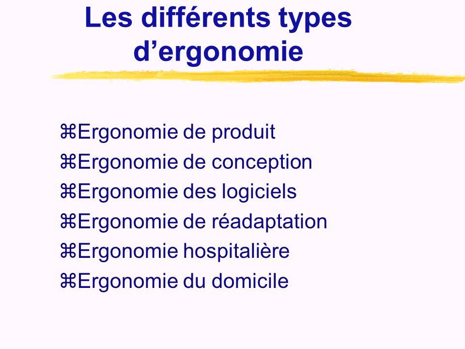 Les différents types d'ergonomie