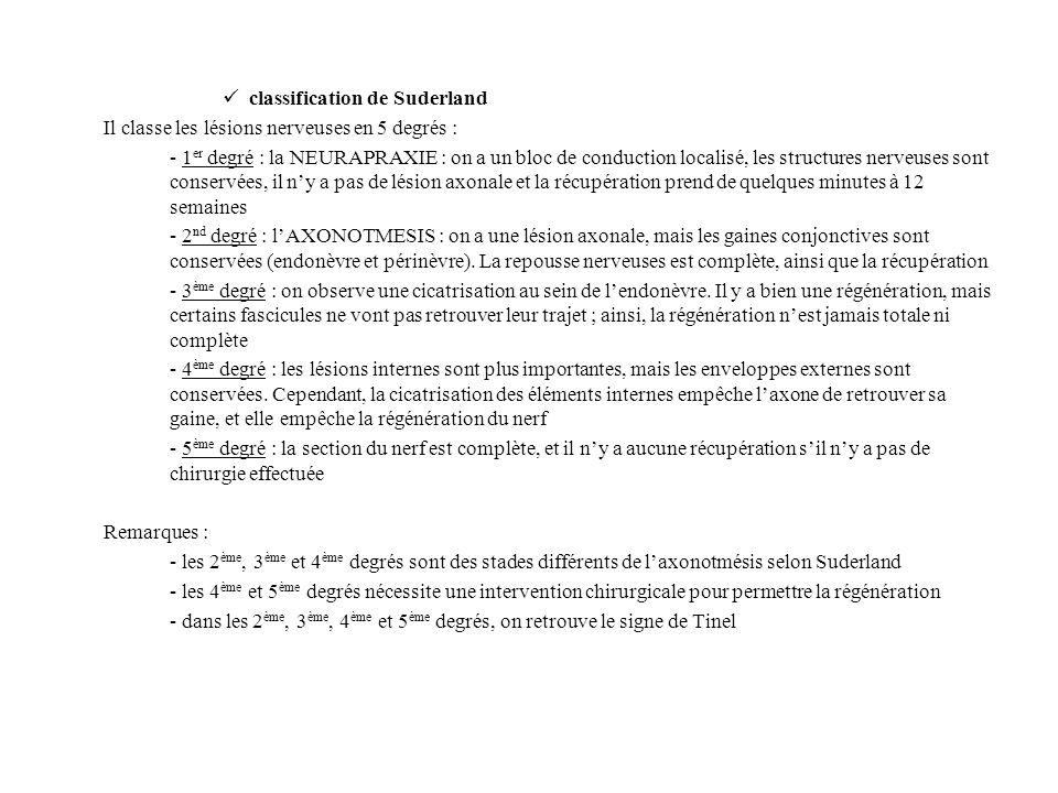 classification de Suderland