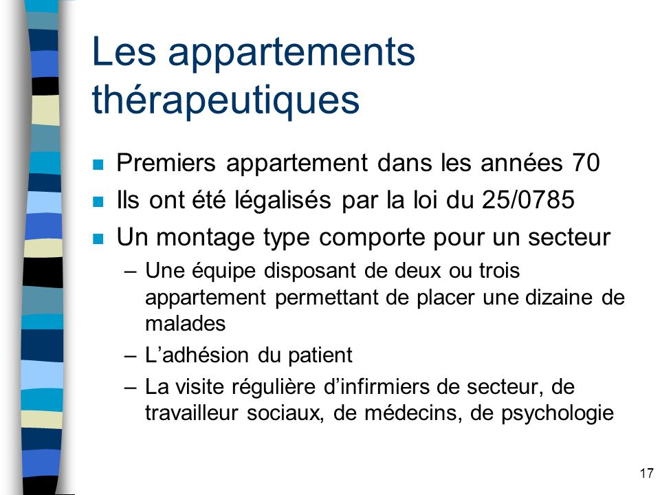 Les appartements thérapeutiques