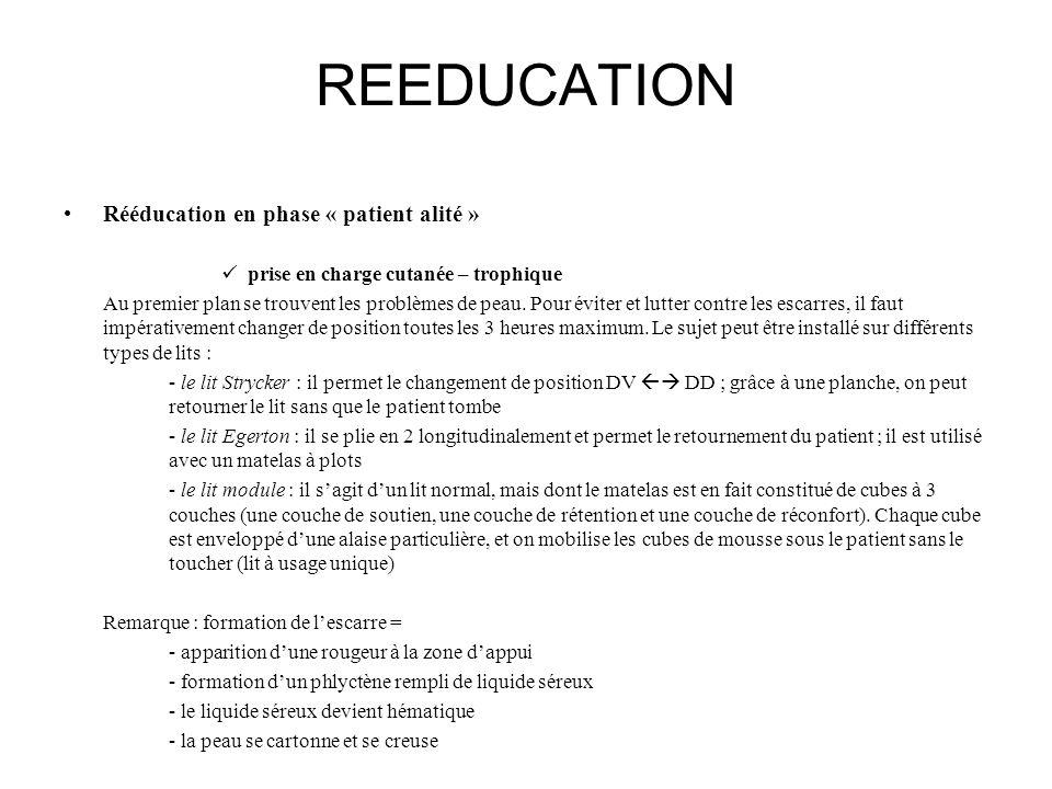REEDUCATION Rééducation en phase « patient alité »