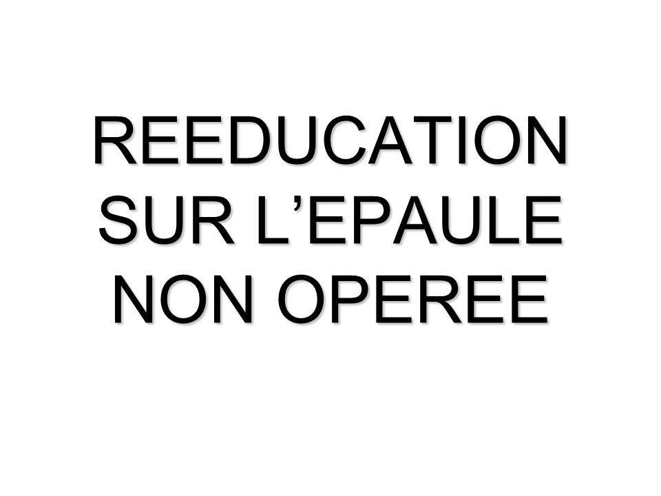 REEDUCATION SUR L'EPAULE NON OPEREE